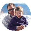 Father and son at Lake Tahoe