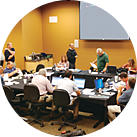 Participants at a Kliman Sales Multi-media Training